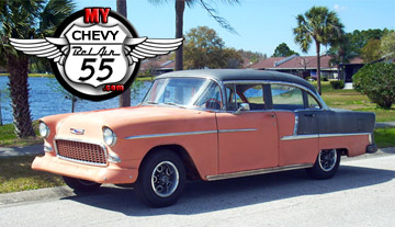My 55 Chevy BelAir logo and car